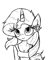 File Fanmade Antro Sunset Shimmer Sketch Png Valid My Little Pony Coloring Pages