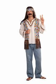 amazon com forum novelties men u0027s groovy hippie costume shirt and