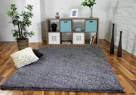 luxus hochflor langflor teppich grau größe 160x200 cm