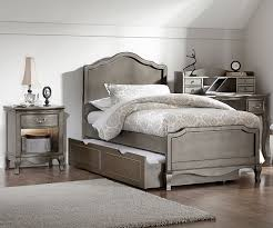 Kensington Silver Finish Charlotte Twin Size Panel Bed with