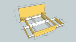 how to build a queen size platform bed frame with drawers