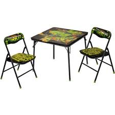 Walmart Outdoor Folding Table And Chairs by Nickelodeon Teenage Mutant Ninja Turtle Square Table And Chair Set
