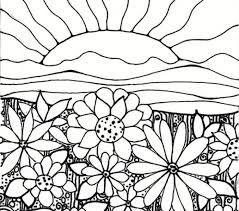 Great Flower Garden Coloring Page 63 For Your Free Kids Hawaiian Gardens Pages