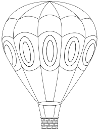 Hot Air Balloon Coloring Sheets