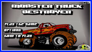 100 Destroyer Monster Truck Flash Game Walkthrough 11 Levels