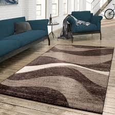 teppich designer wohnzimmer meliert modern braun beige