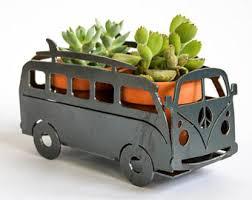 Classic Camper Van Garden Art Planter RV Yard Spring Decor Gift For Him Her Outdoors Herb