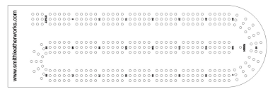 Custom Acrylic Cribbage Board Layout Template This Tool Can Help You Mark Your Project