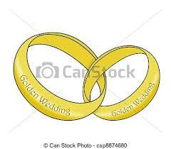 Golden Wedding Rings Linked csp