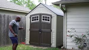 Rubbermaid Roughneck Gable Storage Shed 7x7 by Suncast Storage Cabinet Home Depot Shed Parts Garden Sheds Embly