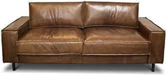 casa padrino luxus echtleder lounge sofa vintage leder braun
