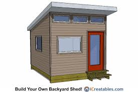 10x14 Garden Shed Plans by 14x10 Modern Shed Plans Office Shed Plans Studio Shed