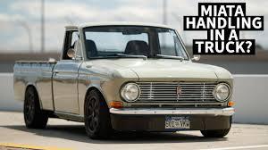 100 Datsun Truck A That Handles Like A Miata Because It IS A Miata Kind Of