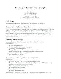 Cover Letter Pharmacist Sample Pharmacy Tech Resume Template For Example Technician