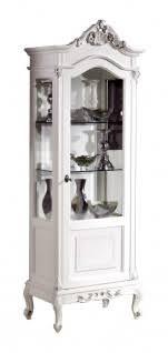 vitrine klassisch mit füße schnitzarbeit in blatt gold silber möbel klassisch antik 1 glastür struktur aus holz einrichtung italienisch für