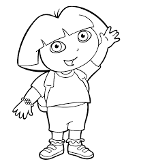 Printable Dora The Explorer Coloring Pages Fullcoloringpages