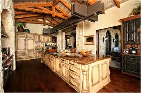 Best Rustic Kitchen Lighting With Incredible Color Schemes And Brown Floor