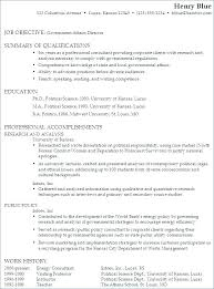 Resume Objective For Government Job Examples And Resumes Of Produce Astounding