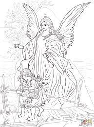 Click The Children Are Protected By Guardian Angel Coloring Pages