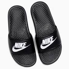 NIKE BENASSI JDI 343880 090 Black White 100 JUST DO IT Sandals Ladys Men Rest Room Slippers Beach