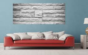 acrylglasbild steinwand grau 80 x 200 cm