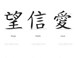 Chinese Symbols For Love Hope And Faith