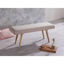 wohnling sitzbank salim stoff massivholz bank 117x51x38 cm retro polsterbank gepolstert stoffbank esszimmer