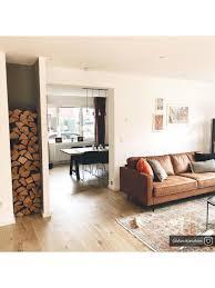 sofa 3 sitzer in braun aus recyceltem leder