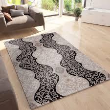 teppich wohnzimmer teppich mit glitzer abstrakt used optik in braun vimoda homestyle