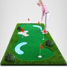 mini golf de bureau protable mini terrain de golf de golf mettant tapis pour bureau mini
