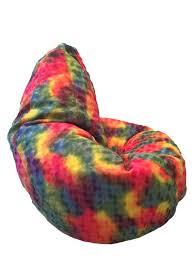 Fuzzy Tie Dye Bean Bag Chair