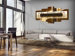 wandbilder wohnzimmer leinwand bilder gold abstrakt