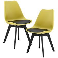 en casa stuhl 2x design stühle esszimmer senffarben kunststoff kunst leder stuhl set kaufen otto
