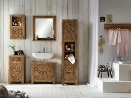 details zu badmöbel set katha 5teilig akazie braun wandschrank badschrank holz möbel