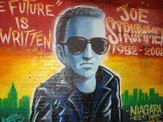 joe strummer mural outside niagara bar east village joe