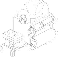 Designed Coffee Threshing Machine