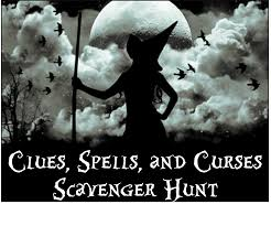 Halloween Scavenger Hunt Clue Cards by Product Review Clues Spells And Curses Printable Scavenger Hunt