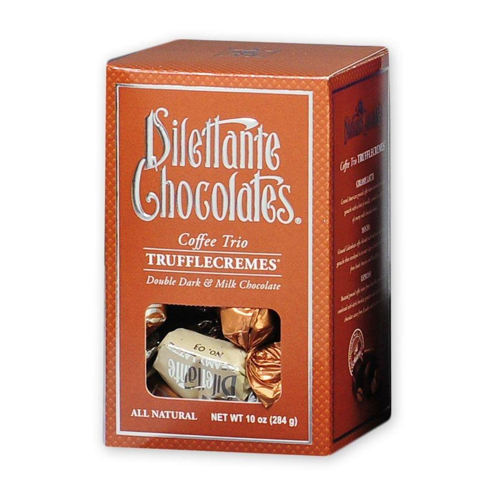 Dilettante Coffee Trio TruffleCremes in Milk & Dark Chocolate - 10 oz