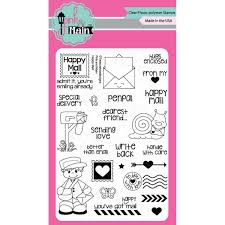 Pink And Main Clear Stamps Happy Mail 4inx6in Products Stamp