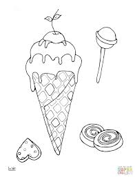 Free Printable Coloring Pages Ice Cream Cones Of Sundaes Colouring Cone Click Lollipops View Version Color