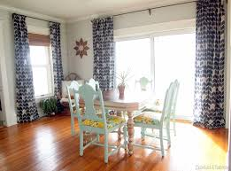 Dining Room With New DIY Curtains