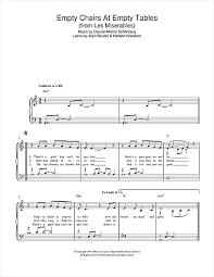 Don Mclean Empty Chairs Tab empty chairs at empty tables from les miserables sheet music by