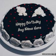 Pineapple Black Chocolate Cake For Friend Birthday