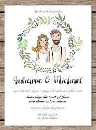 Wedding Invitation Printable Template Custom Illustrated Hipster