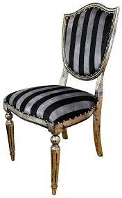 casa padrino deco luxus esszimmer stuhl schwarz silber streifen antik stil silber 52 5 x 59 x h 104 cm luxus hotel möbel