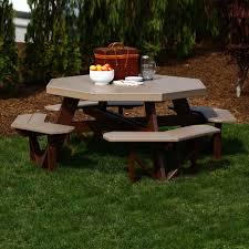 luxcraft crestville octagon picnic table luxcraft