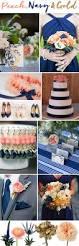 Coral Color Decorations For Wedding by Best 25 Navy Gold Weddings Ideas On Pinterest Metallic Wedding