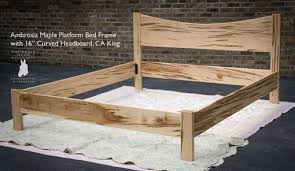 Buy a Hand Made Queen Size Platform Bed Frame W Curved Headboard