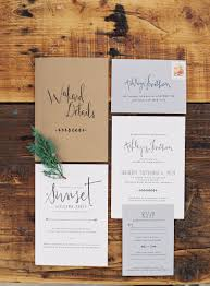 Rustic Chic Estate Wedding In Northern Michigan Invitation SuiteHandwritten