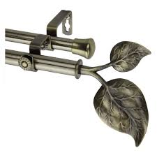 Curtain Rod 120 170 by Amazon Com Modern Ivy Double Curtain Rod In Antique Brass Size